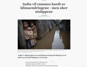 india øker utslippene